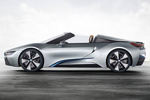 Bmw I8 Spyder Green Lit For Production