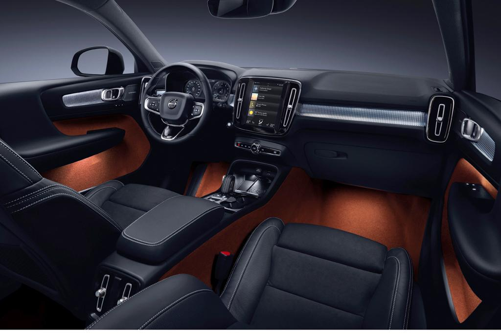 Volvo xc40 revealed for Interieur xc40