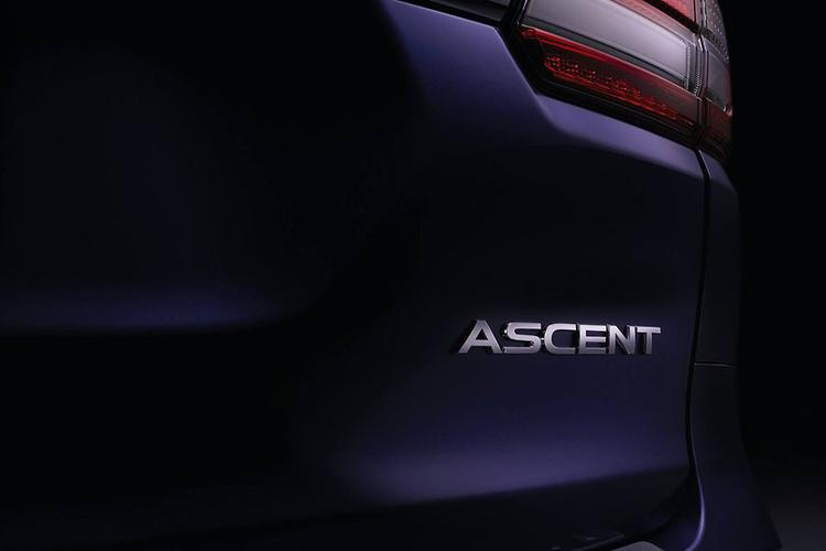 Published the first teaser production SUV Subaru Ascent