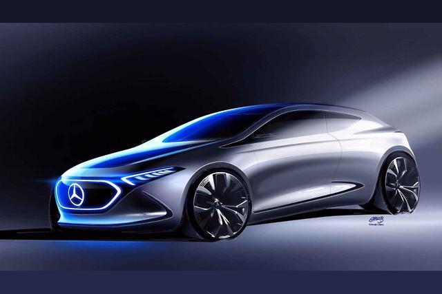 Frankfurt Motor Show Mercedes Benz Previews Concept Eq A Electric Car