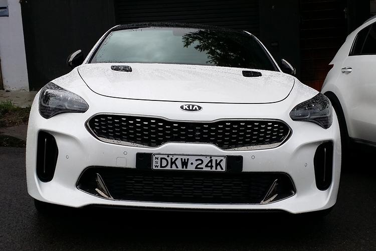 spy pics kia stinger gt hits aussie roads. Black Bedroom Furniture Sets. Home Design Ideas