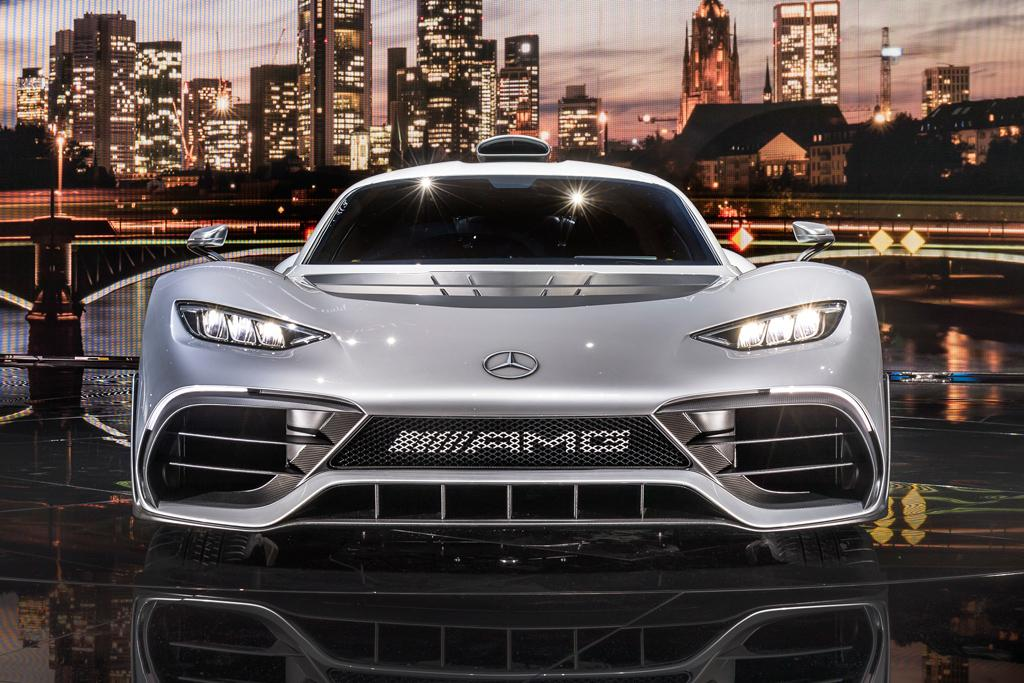 frankfurt motor show mercedes amg project one exposed. Black Bedroom Furniture Sets. Home Design Ideas