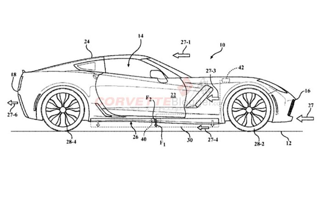 gm caught patenting active aero for next corvette