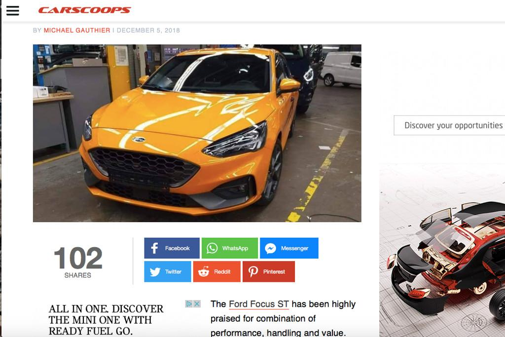 New Ford Focus ST hot hatch leaked - motoring com au