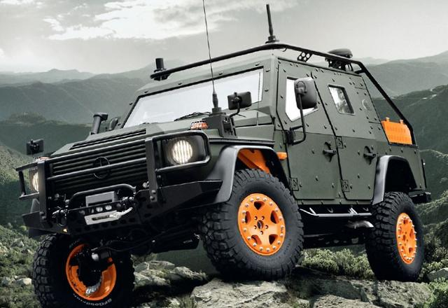 Benz launches g wagen lapv 6 x concept for Mercedes benz g wagon lapv 6 x