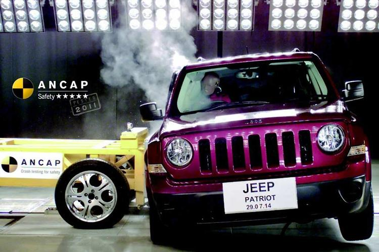 Jeep Patriot Achieves Five Star ANCAP Rating