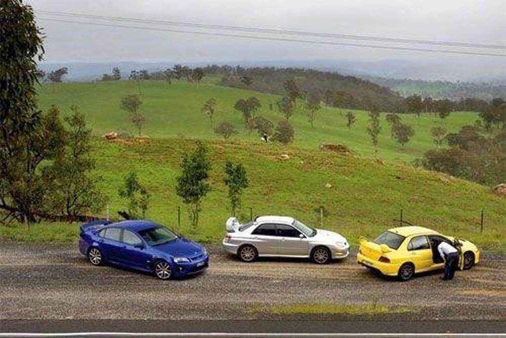 Hsv Clubsport R8 V Mitsubishi Lancer Evo Ix V Subaru Wrx