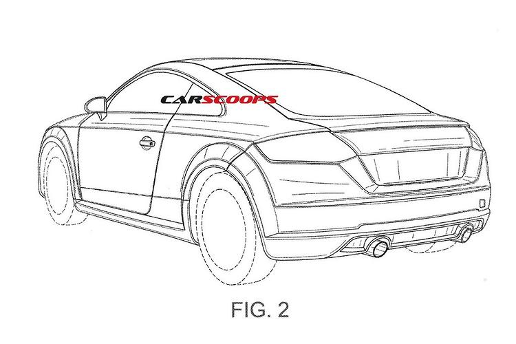 leaked  audi tt rs patent drawings