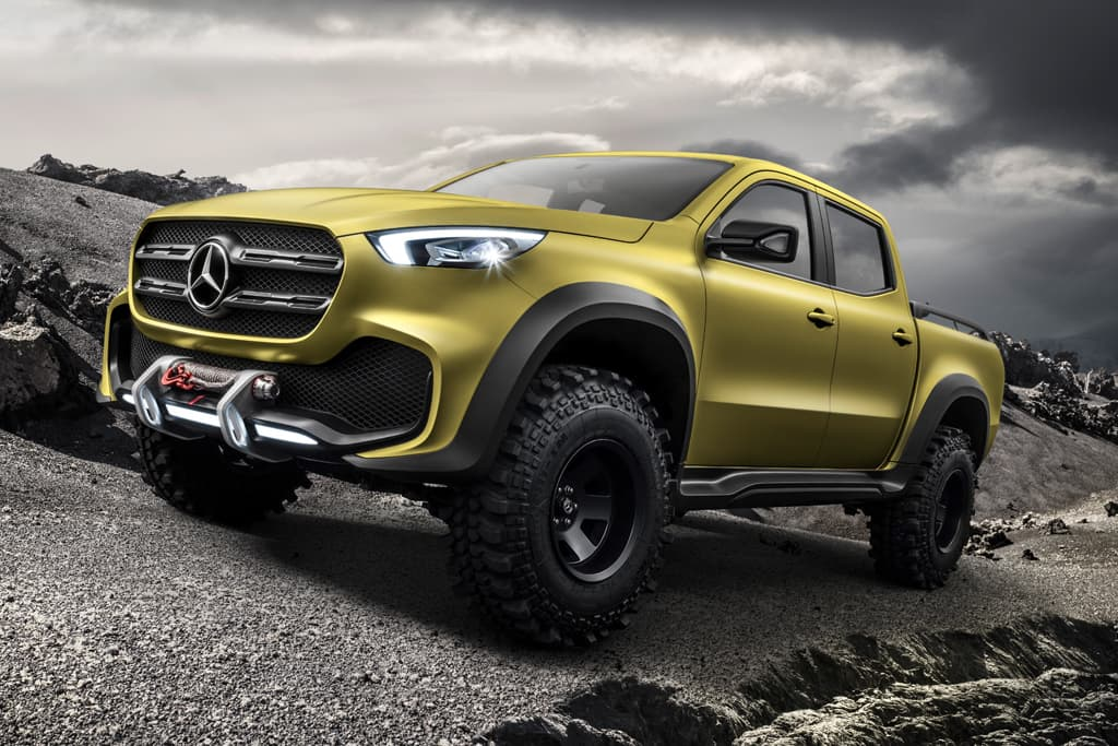 Mercedes benz x class ute revealed for Mercedes benz in colorado