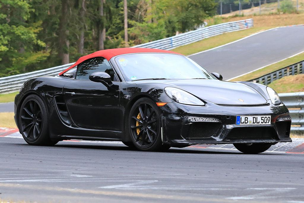 SPY PICS: GT3 power for Porsche 718 Boxster Spyder