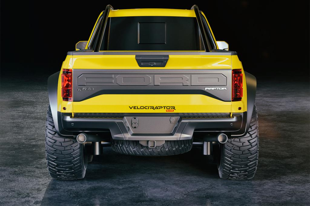 2018 ford raptor 6x6. exellent raptor not a bad looking rump right there u2013 stainlesssteel exhaust system adding  to its roar intended 2018 ford raptor 6x6 5