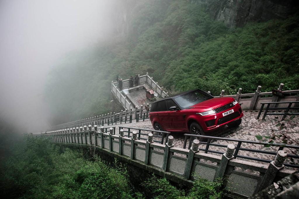 WATCH: Range Rover Sport climbs stairway to heaven