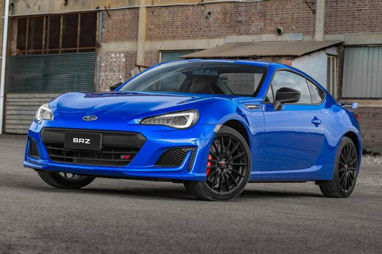 ... STI Coil Springs, A Thicker Under Bonnet Strut Bracing For Added  Rigidity, 18 Inch Alloy Wheels, Roof Mounted Antenna And Requisite Badging.  Subaru Says ...