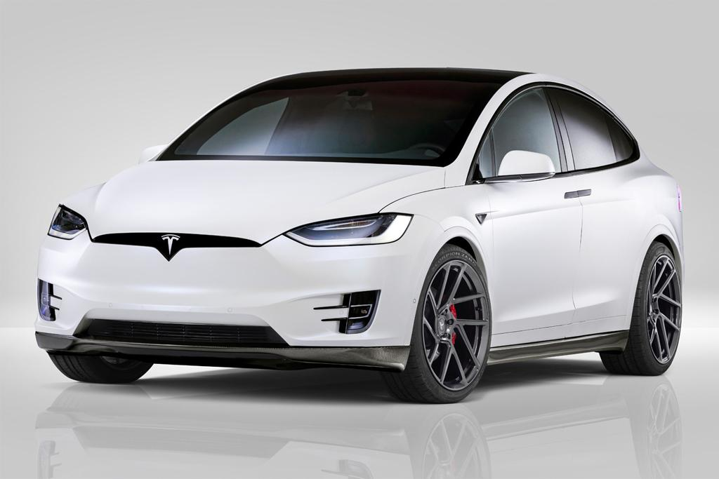 The Lower Ride Height Improves Model X S Ungainly Stature