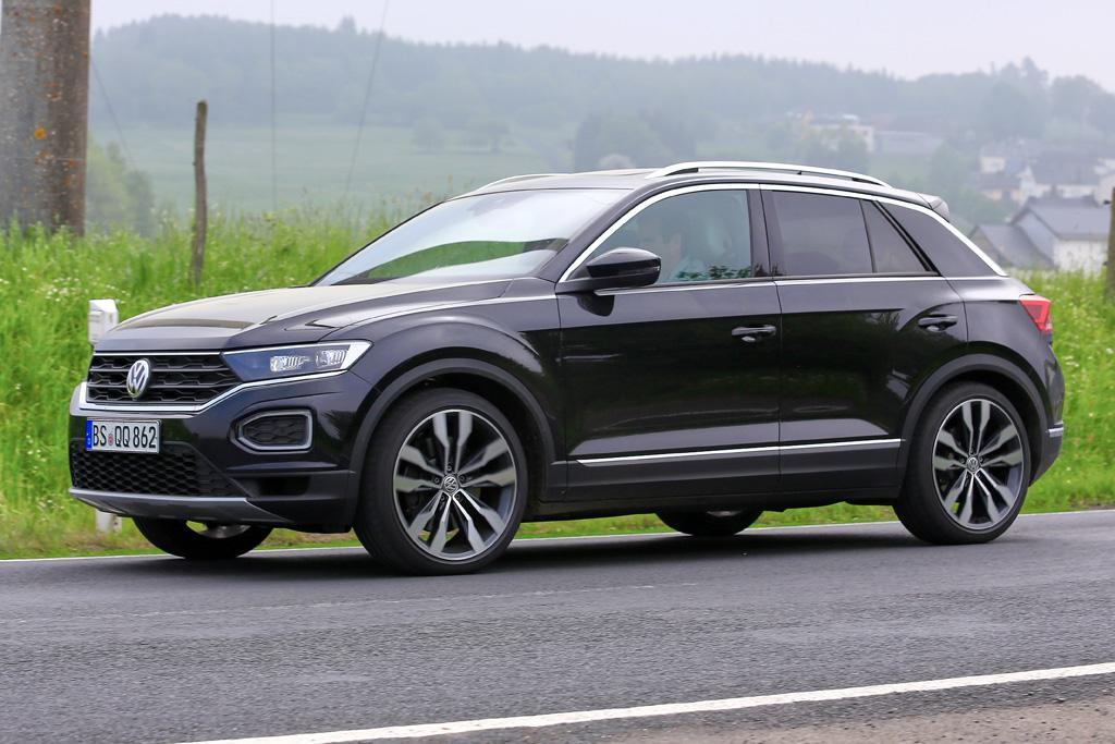 spy pics volkswagen adds 39 r 39 to t roc suv. Black Bedroom Furniture Sets. Home Design Ideas